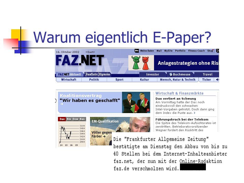 Warum eigentlich E-Paper?