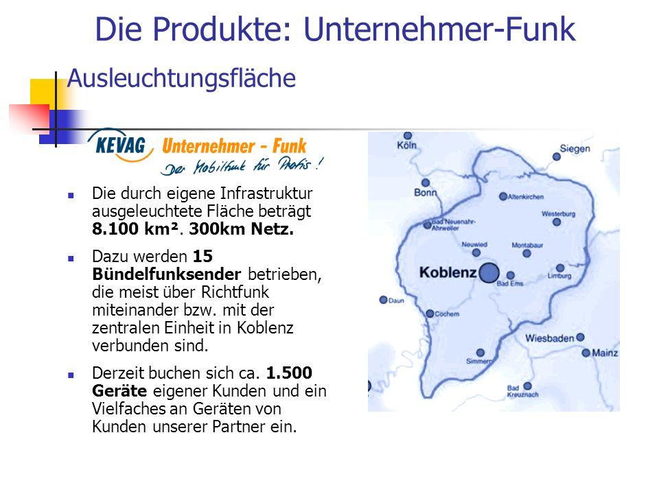 Die durch eigene Infrastruktur ausgeleuchtete Fläche beträgt 8.100 km². 300km Netz. Dazu werden 15 Bündelfunksender betrieben, die meist über Richtfun