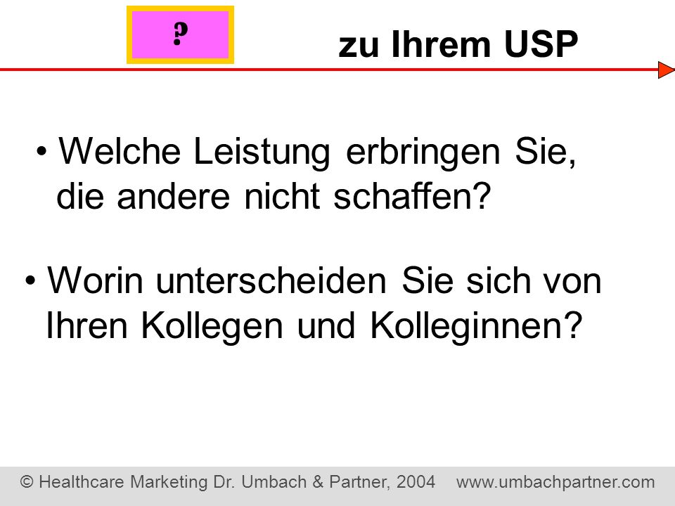 © Healthcare Marketing Dr.Umbach & Partner, 2004 www.umbachpartner.com Tod durch...