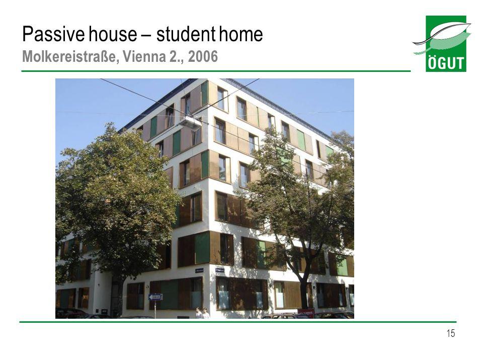 15 Passive house – student home Molkereistraße, Vienna 2., 2006