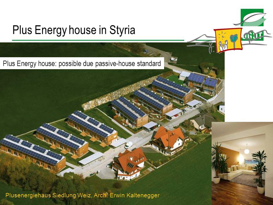 17 Platz für standort niederösterrreich Plusenergiehaus Siedlung Weiz, Arch. Erwin Kaltenegger Plus Energy house: possible due passive-house standard