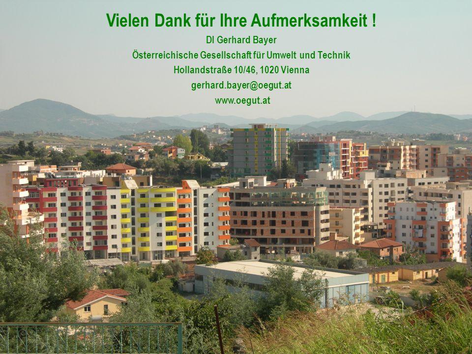 27 Vielen Dank für Ihre Aufmerksamkeit ! DI Gerhard Bayer Österreichische Gesellschaft für Umwelt und Technik Hollandstraße 10/46, 1020 Vienna gerhard
