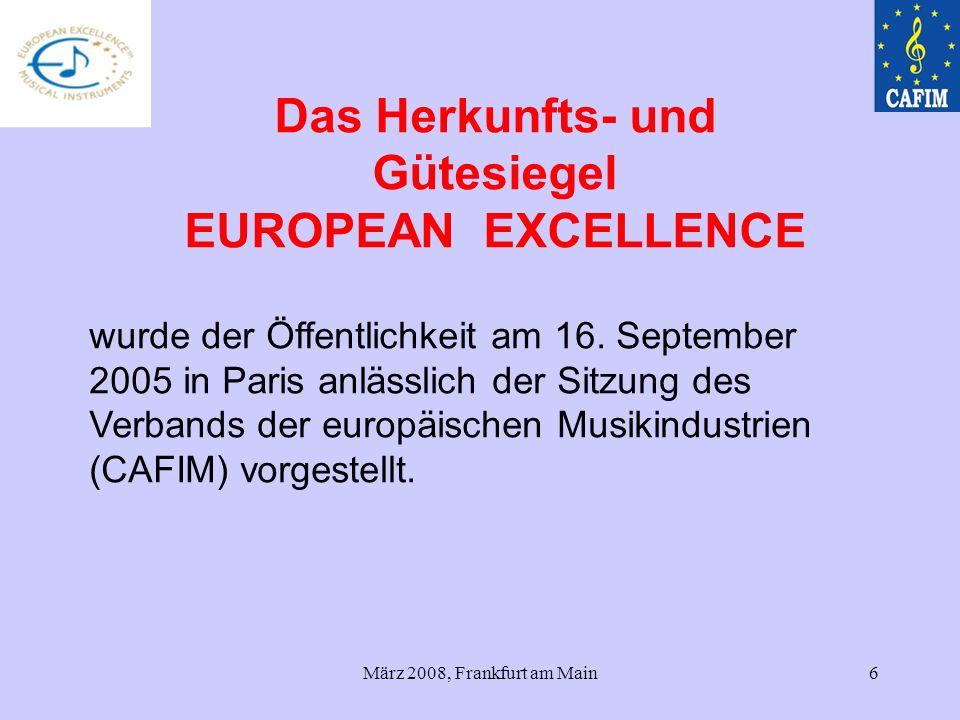 März 2008, Frankfurt am Main6 wurde der Öffentlichkeit am 16. September 2005 in Paris anlässlich der Sitzung des Verbands der europäischen Musikindust