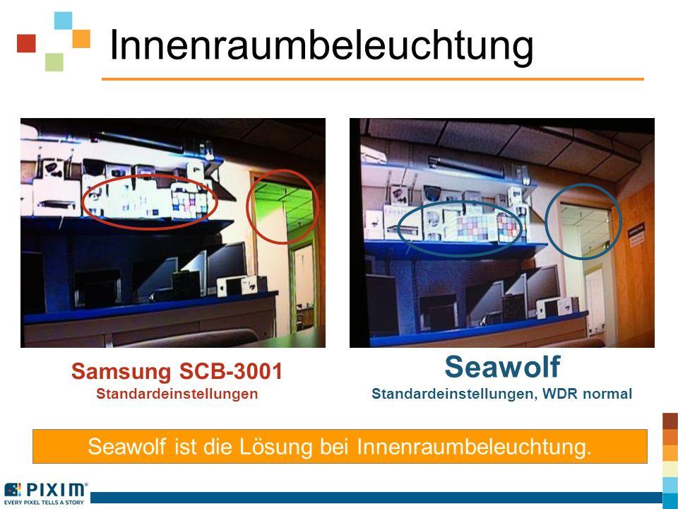 Innenraumbeleuchtung Seawolf ist die Lösung bei Innenraumbeleuchtung. Samsung SCB-3001 Standardeinstellungen Seawolf Standardeinstellungen, WDR normal