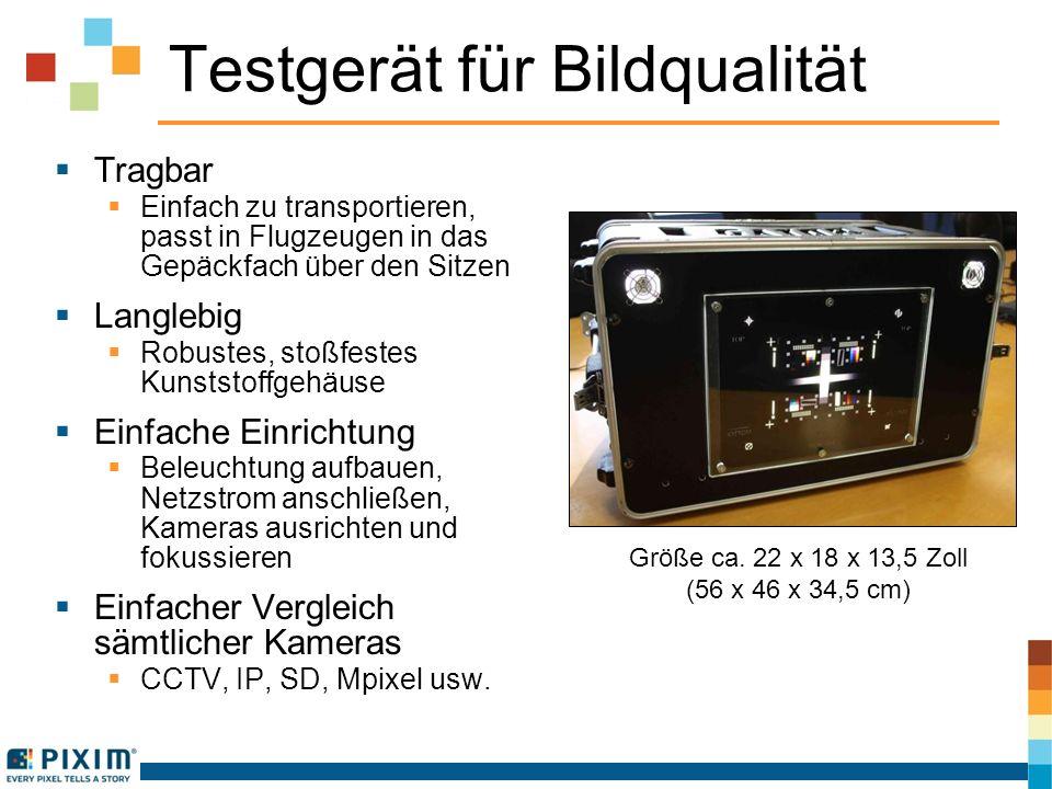 Testgerät für Bildqualität Tragbar Einfach zu transportieren, passt in Flugzeugen in das Gepäckfach über den Sitzen Langlebig Robustes, stoßfestes Kun