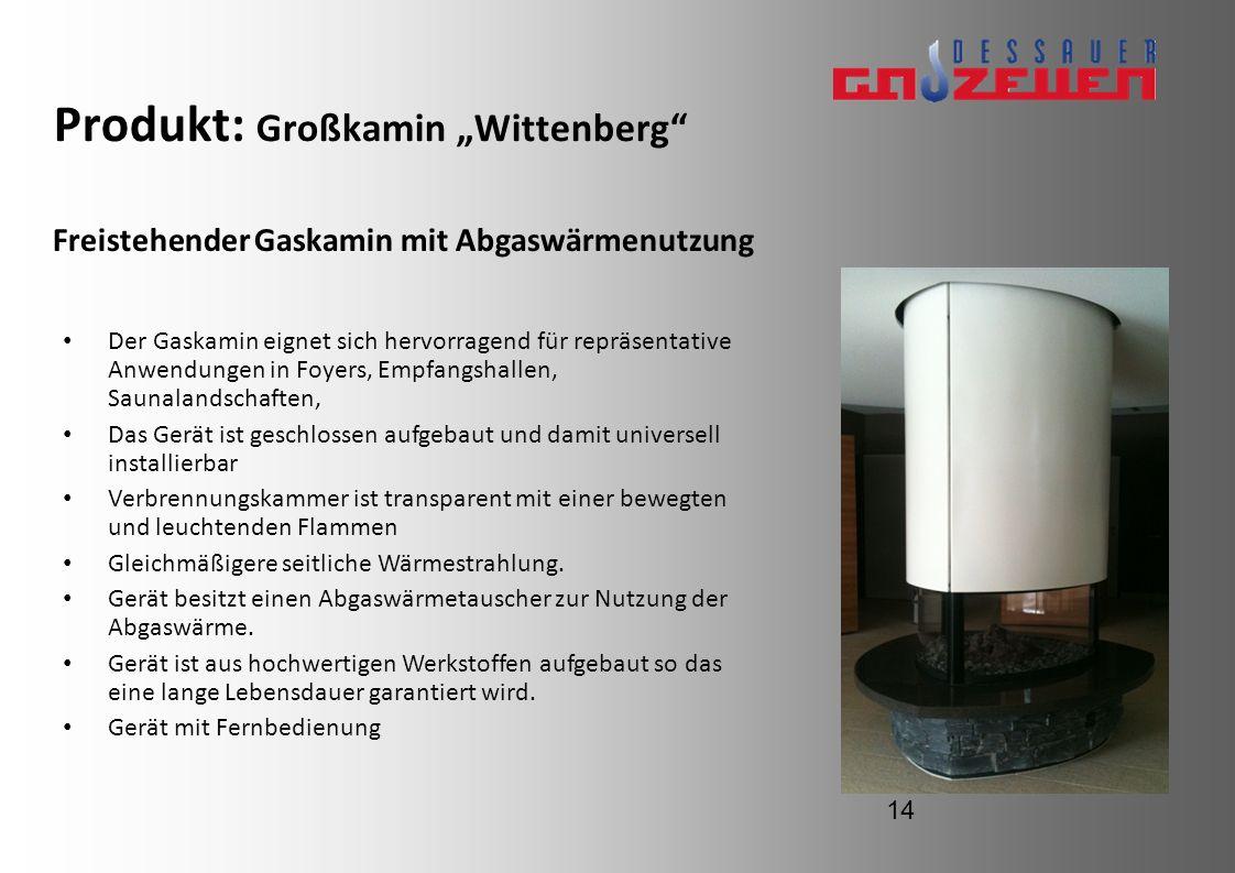 Produkt: Großkamin Wittenberg Der Gaskamin eignet sich hervorragend für repräsentative Anwendungen in Foyers, Empfangshallen, Saunalandschaften, Das G