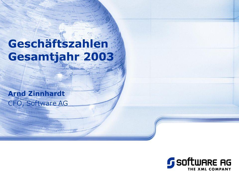 Arnd Zinnhardt CFO, Software AG Geschäftszahlen Gesamtjahr 2003
