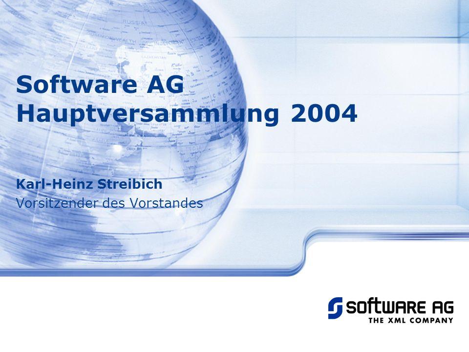 Software AG Hauptversammlung 2004 Karl-Heinz Streibich Vorsitzender des Vorstandes