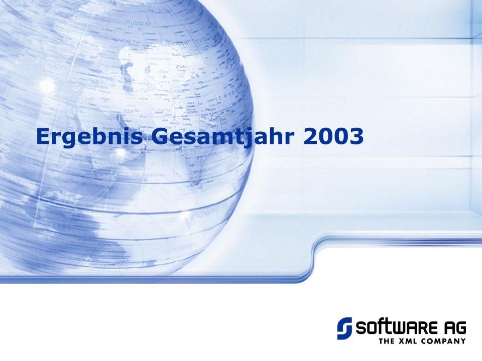 Ergebnis Gesamtjahr 2003