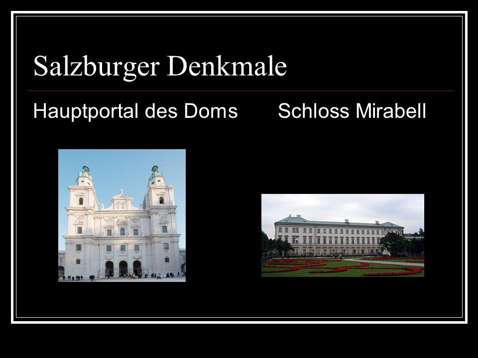 Salzburger Denkmale Hauptportal des Doms Schloss Mirabell