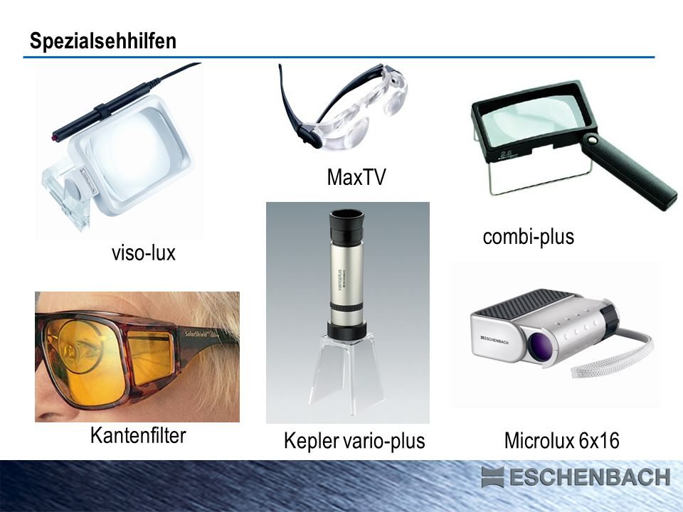 Spezialsehhilfen labo-clip visoLED maxi-plus makrolux MaxDetail scribolux
