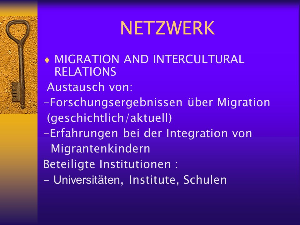 FORTBILDUNGSKURS MIGRATION AND INTERCULTURAL RELATIONS, A CHALLENGE FOR EUROPEAN SCHOOLS TODAY Lisabon 2001 Omagh Herbst 2002 Stavanger Frühjahr 2003