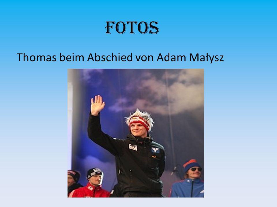 Fotos Thomas beim Abschied von Adam Małysz