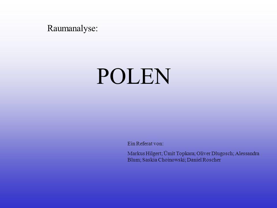 Raumanalyse: POLEN Ein Referat von: Markus Hilgert; Ümit Topkara; Oliver Dlugosch; Alessandra Blum; Saskia Choinowski; Daniel Roscher