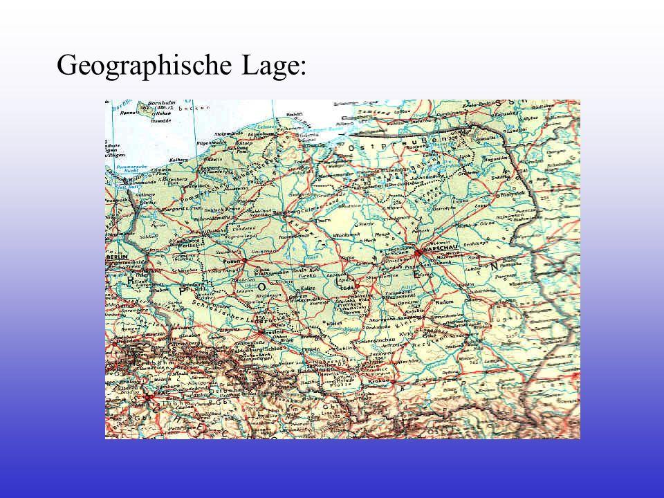 Geographie - Naturraum: - Baltische Tiefebene und Seenplatten, Pommersche Seenplatten im Norden - anschließend Mittelgebirge - im Süden dicht bewaldete Karpaten - im Südwesten Sudeten - die größten Flüsse: - Wisla (Weichsel) 1047 km.