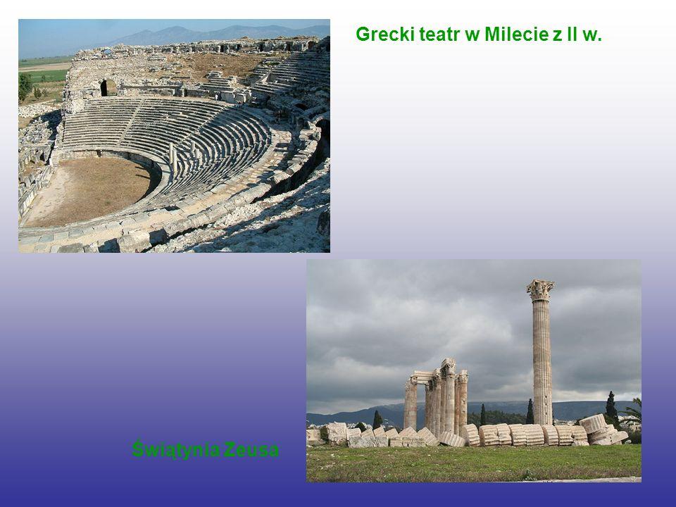 Grecki teatr w Milecie z II w. Świątynia Zeusa