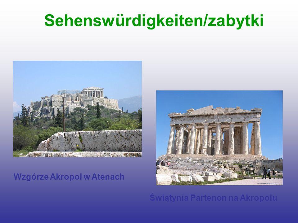 Sehenswürdigkeiten/zabytki Wzgórze Akropol w Atenach Świątynia Partenon na Akropolu
