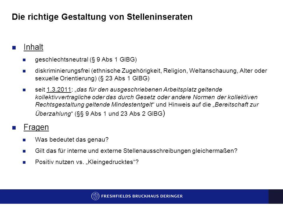 Verpflichtende Entgeltangaben in Stellenanzeigen Dr. Karin Sommeregger