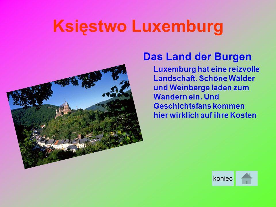Księstwo Luxemburg Das Land der Burgen Luxemburg hat eine reizvolle Landschaft. Schöne Wälder und Weinberge laden zum Wandern ein. Und Geschichtsfans