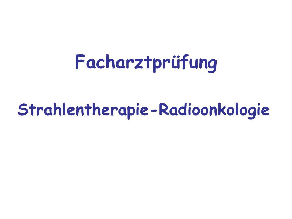 Facharztprüfung Strahlentherapie-Radioonkologie