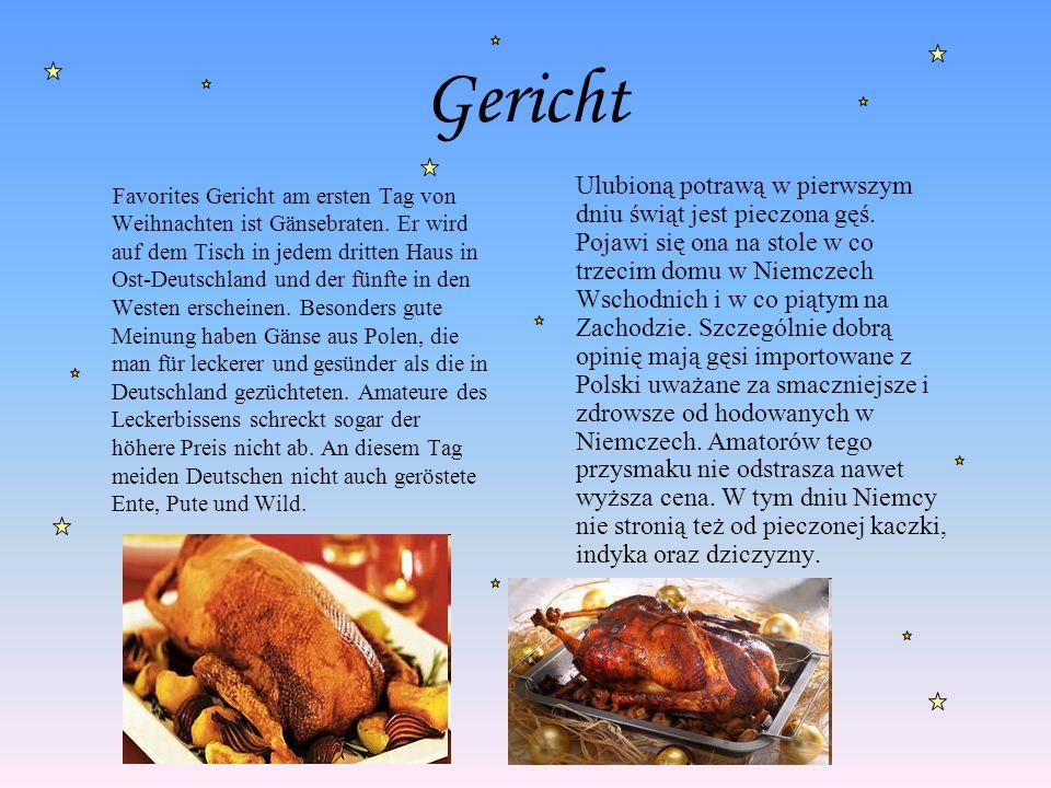 Gericht Favorites Gericht am ersten Tag von Weihnachten ist Gänsebraten. Er wird auf dem Tisch in jedem dritten Haus in Ost-Deutschland und der fünfte