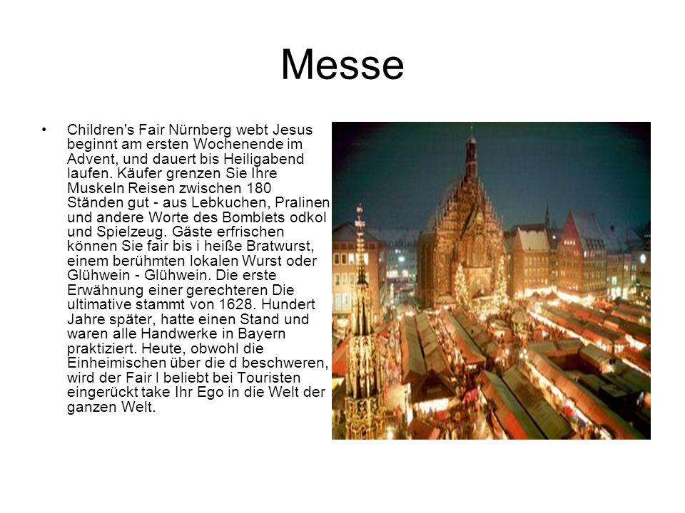 Messe Children's Fair Nürnberg webt Jesus beginnt am ersten Wochenende im Advent, und dauert bis Heiligabend laufen. Käufer grenzen Sie Ihre Muskeln R