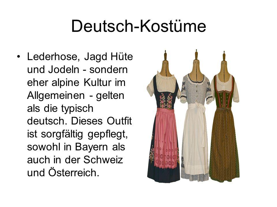 Deutsch-Kostüme Lederhose, Jagd Hüte und Jodeln - sondern eher alpine Kultur im Allgemeinen - gelten als die typisch deutsch. Dieses Outfit ist sorgfä