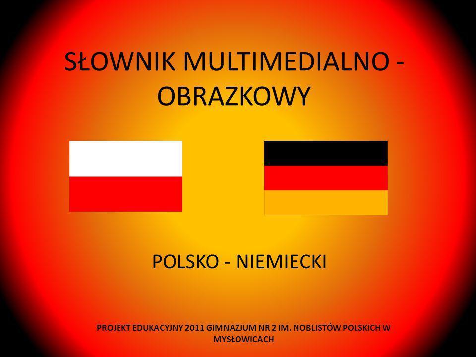 SŁOWNIK MULTIMEDIALNO - OBRAZKOWY POLSKO - NIEMIECKI PROJEKT EDUKACYJNY 2011 GIMNAZJUM NR 2 IM. NOBLISTÓW POLSKICH W MYSŁOWICACH