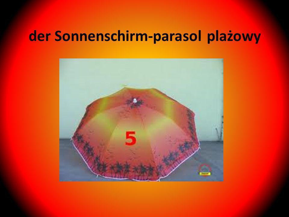 der Sonnenschirm-parasol plażowy