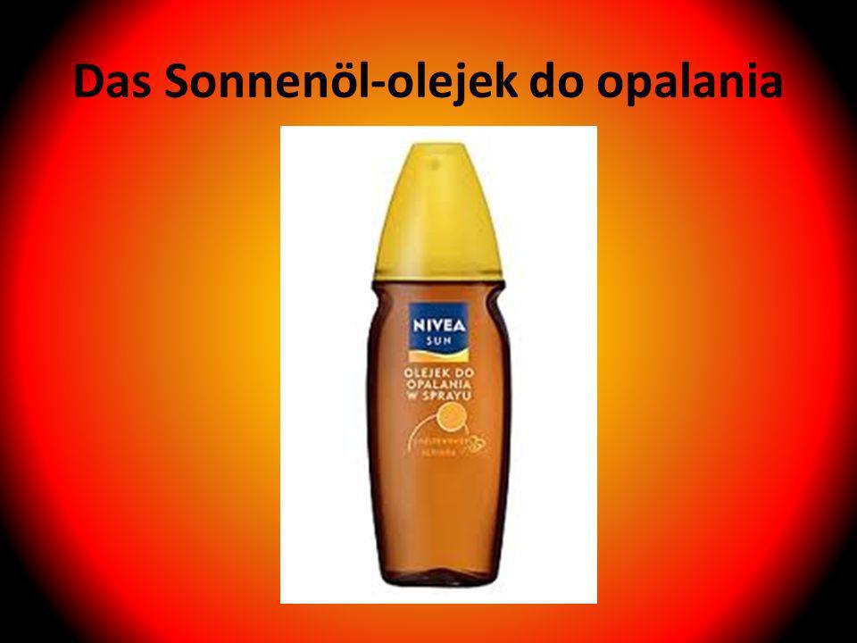Das Sonnenöl-olejek do opalania