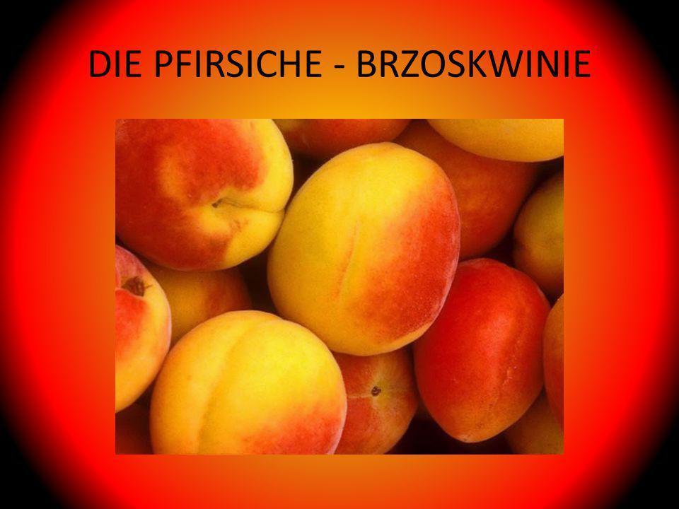 DIE PFIRSICHE - BRZOSKWINIE