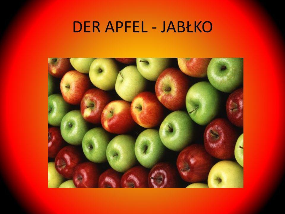 DER APFEL - JABŁKO