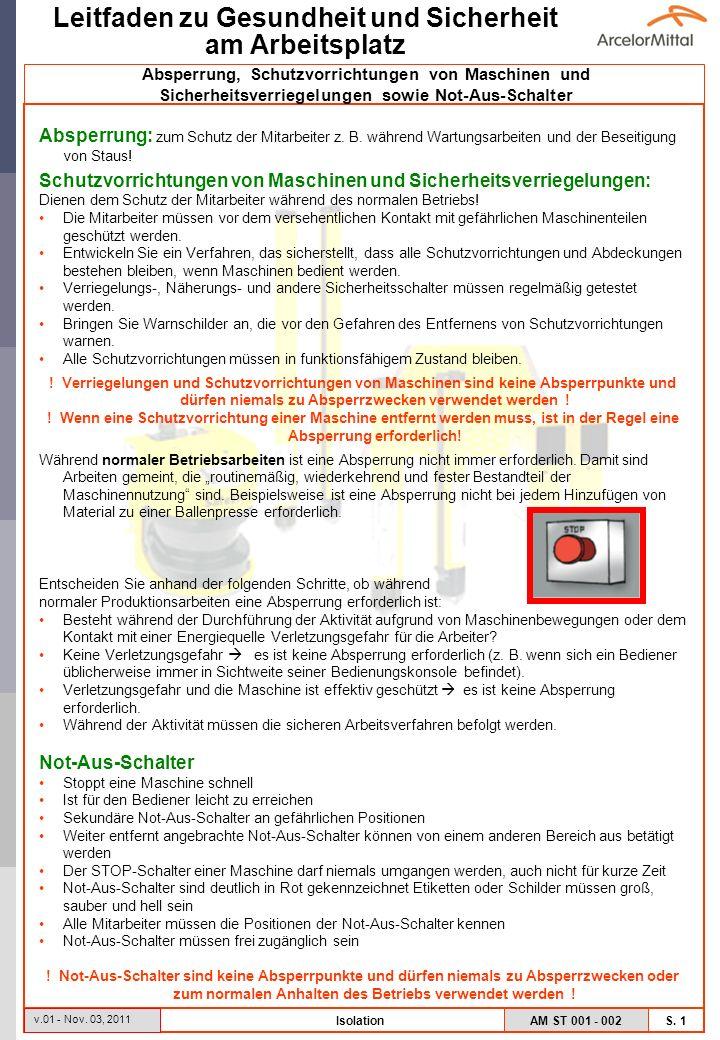 AM ST 001 - 002 S.2 Leitfaden zu Gesundheit und Sicherheit am Arbeitsplatz v.01 - Nov.