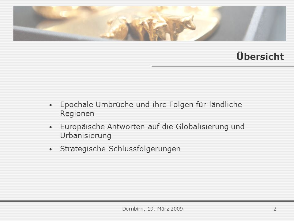 Das Kohäsionsprinzip Dornbirn, 19.