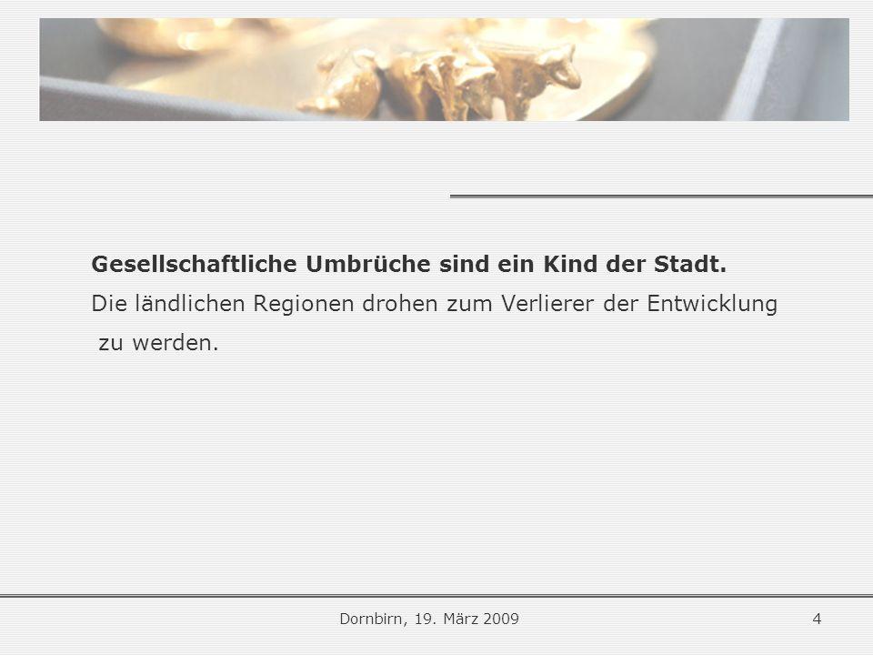 Die großen Umbrüche Dornbirn, 19.