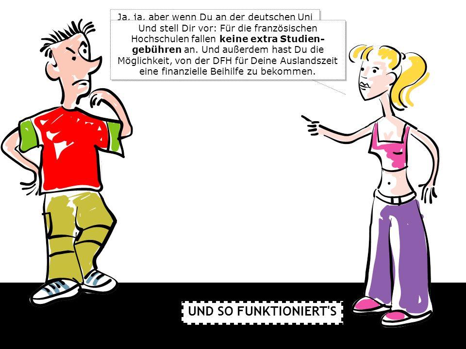 Ja, ja, aber wenn Du an der deutschen Uni oder Fachhochschule für den deutsch- französischen Studiengang angenommen bist, gilt das automatisch auch für die französische Hochschule.