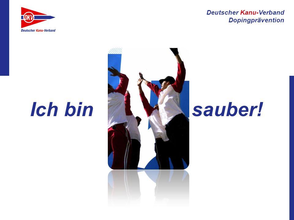 Deutscher Kanu-Verband Dopingprävention Ich bin sauber!