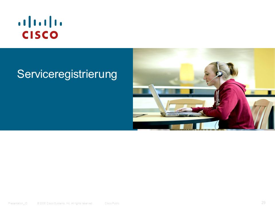 © 2006 Cisco Systems, Inc. All rights reserved.Cisco PublicPresentation_ID 29 Serviceregistrierung
