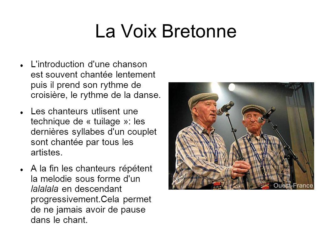 La Voix Bretonne L introduction d une chanson est souvent chantée lentement puis il prend son rythme de croisière, le rythme de la danse.