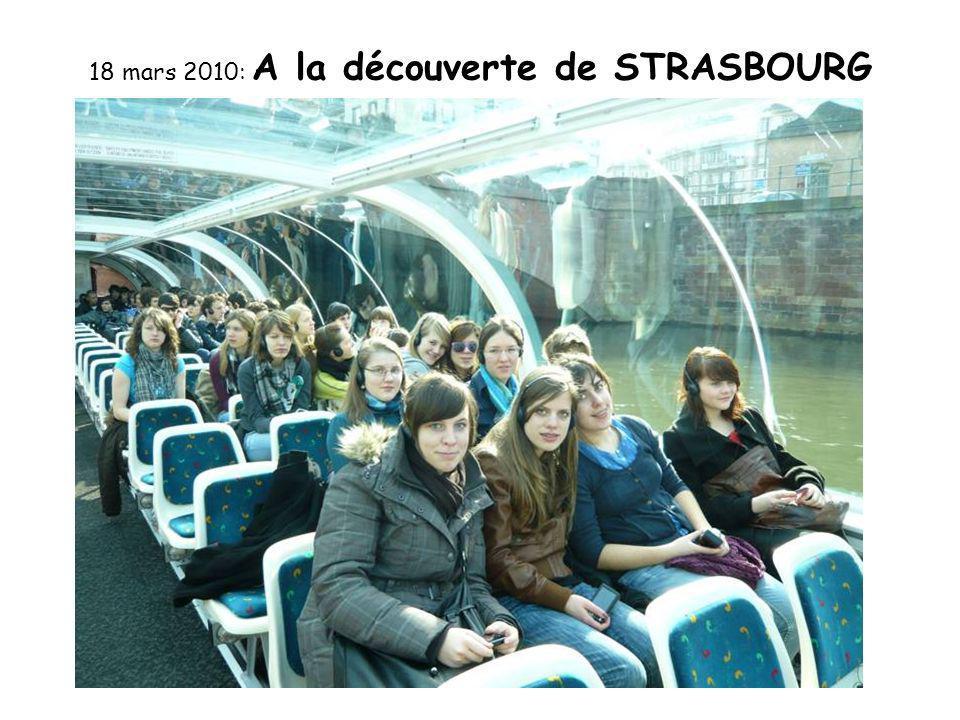 18 mars 2010: A la découverte de STRASBOURG