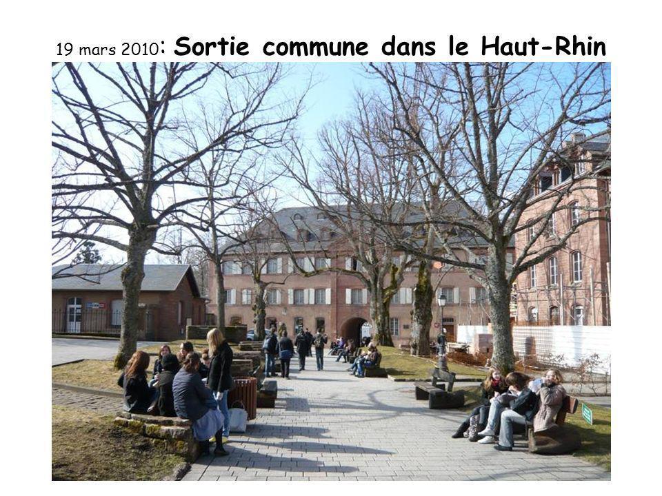 19 mars 2010 : Sortie commune dans le Haut-Rhin