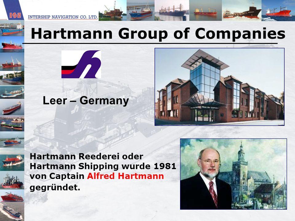 Hartmann Reederei oder Hartmann Shipping wurde 1981 von Captain Alfred Hartmann gegründet. Leer – Germany Hartmann Group of Companies