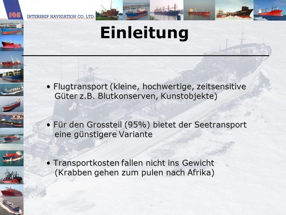 Einleitung Flugtransport (kleine, hochwertige, zeitsensitive Flugtransport (kleine, hochwertige, zeitsensitive Güter z.B. Blutkonserven, Kunstobjekte)