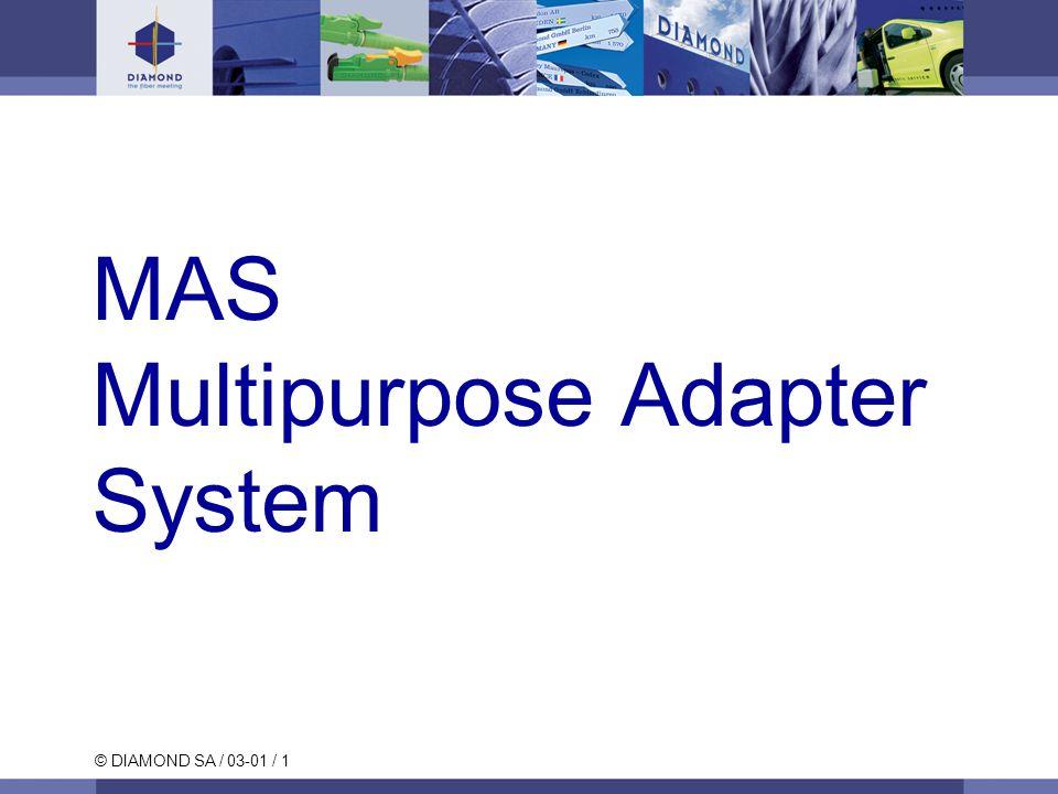 © DIAMOND SA / 03-01 / 2 MAS (Multipurpose Adapter System) Einleitung Universalflansch Modulare auswechselbare Adaptersysteme für 2.5 mm Ferrule.
