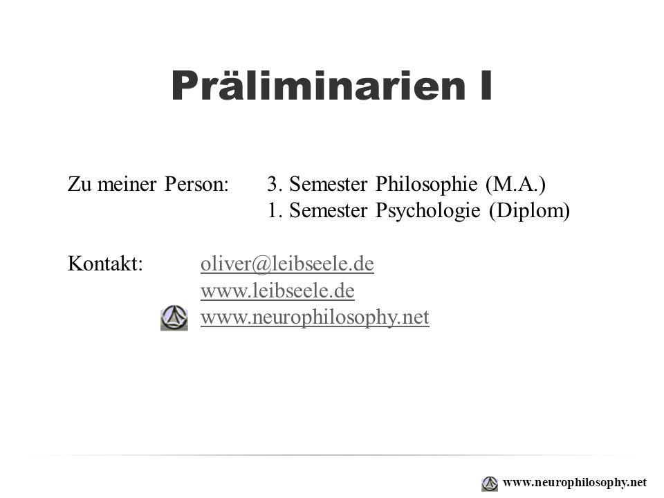 Zu meiner Person: 3. Semester Philosophie (M.A.) 1. Semester Psychologie (Diplom) Kontakt: oliver@leibseele.deoliver@leibseele.de www.leibseele.de www