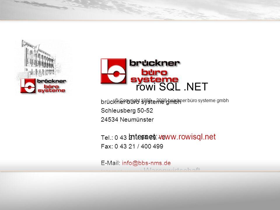 brückner büro systeme gmbh Schleusberg 50-52 24534 Neumünster Tel.: 0 43 21 / 94 79 - 0 Fax: 0 43 21 / 400 499 E-Mail: info@bbs-nms.de Internet: www.b