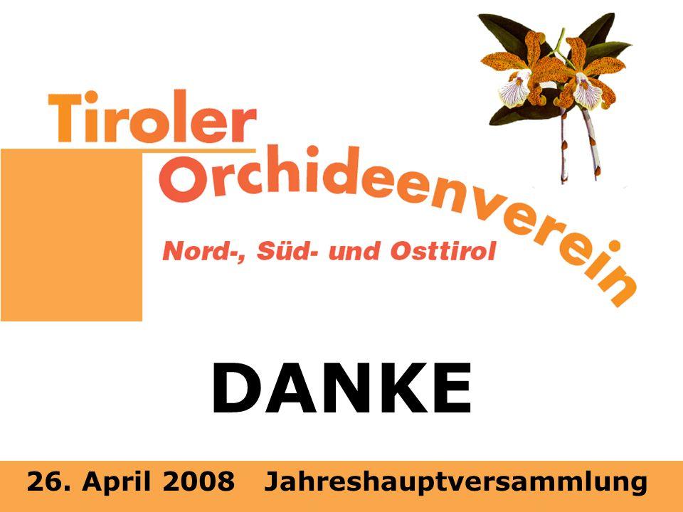 26. April 2008 Jahreshauptversammlung DANKE