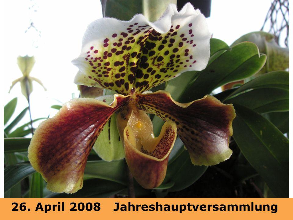 26. April 2008 Jahreshauptversammlung