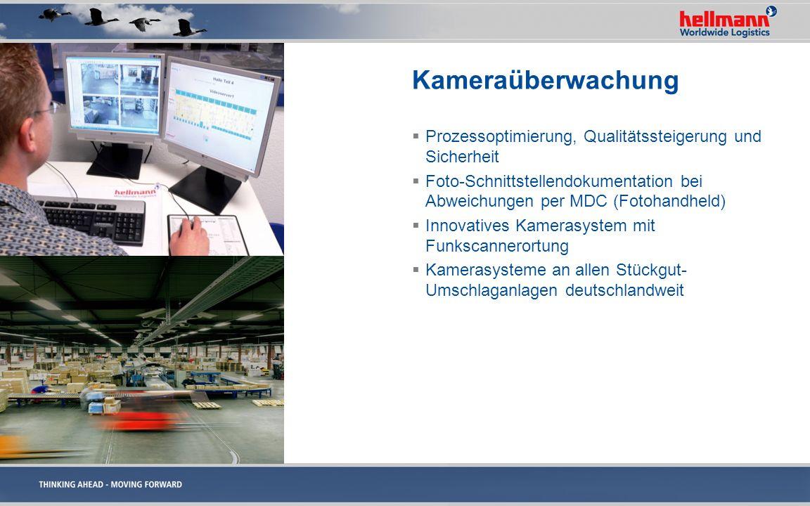 Kameraüberwachung Prozessoptimierung, Qualitätssteigerung und Sicherheit Foto-Schnittstellendokumentation bei Abweichungen per MDC (Fotohandheld) Inno