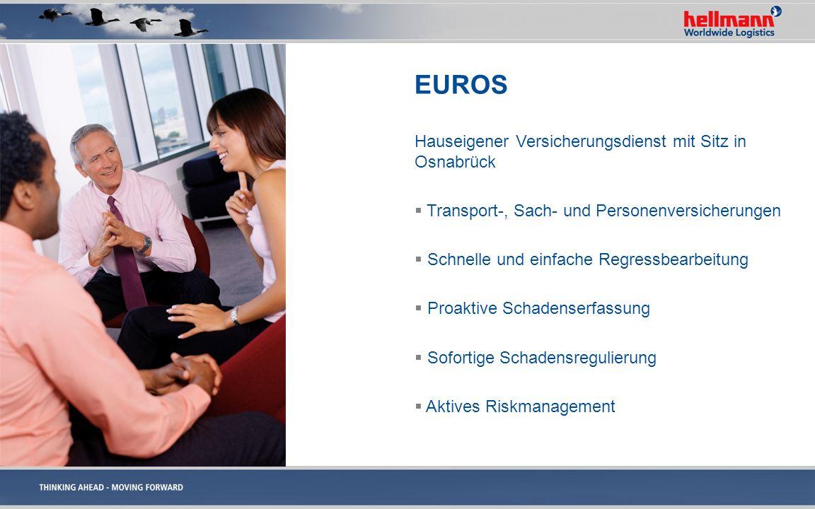 EUROS Hauseigener Versicherungsdienst mit Sitz in Osnabrück Transport-, Sach- und Personenversicherungen Schnelle und einfache Regressbearbeitung Proa